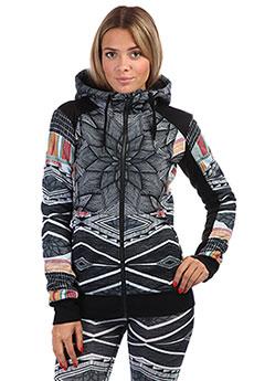 Толстовка сноубордическая женская Roxy Frost Printed True Black Pop Snow