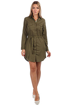 Платье женское Roxy Khaki Sphere Burnt Olive