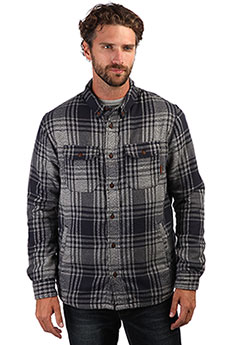 Рубашка утепленная QUIKSILVER Thewaffleshirt Overshirt Med Blue