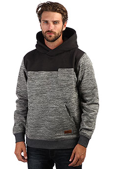 Толстовка кенгуру QUIKSILVER Kellerblockho Dark Grey Heather