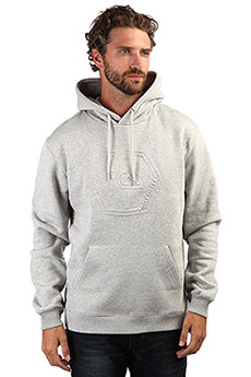 Толстовка кенгуру QUIKSILVER Swellembosshood Light Grey Heather