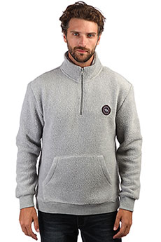 Толстовка кенгуру QUIKSILVER Glong Light Grey Heather