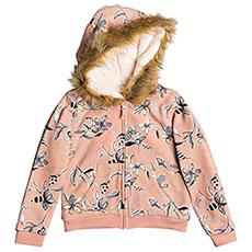 Толстовка утепленная детская Roxy Butterfliesfun Coral Almond Trellis