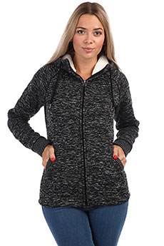 Толстовка классическая женская Rip Curl Essentials Polar Fleece Black Marle