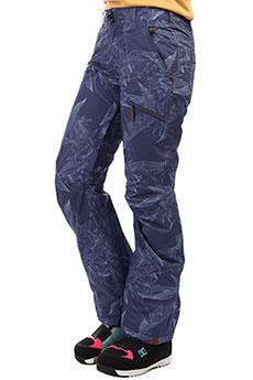 Штаны сноубордические женские Roxy Nadia Printed Crown Blue_washed Fl