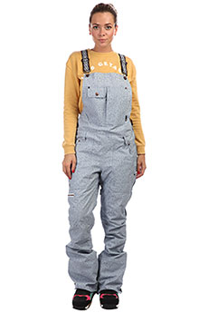 Комбинезон женский DC Collective Bib Light Blue Acid Wash