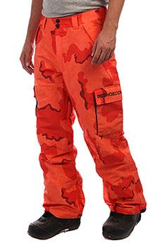 Штаны сноубордические DC Banshee Red Orange Dcu Camo
