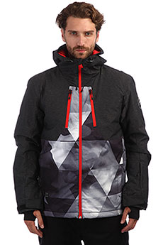 Куртка утепленная QUIKSILVER Mission Plus Grey Stretch Univers