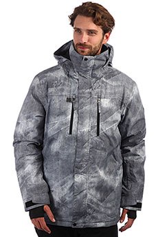 Куртка утепленная QUIKSILVER Mission Grey Simple Texture