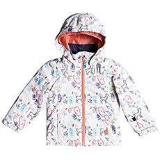 Куртка утепленная детская Roxy Mini Jetty Jk Bright White animals