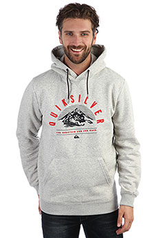 Толстовка кенгуру QUIKSILVER Big Logo Snow Grey Heather