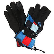 Перчатки сноубордические детские QUIKSILVER Mission Yth Gl Dress Blue check Ato