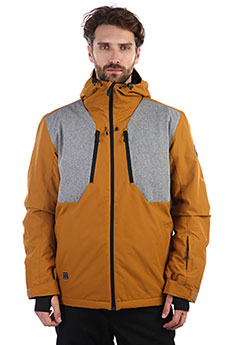 Куртка утепленная QUIKSILVER Mission Plus Golden Brown