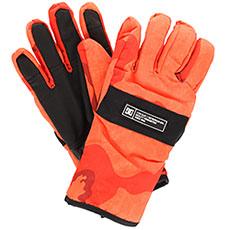 Перчатки сноубордические DC Franchise Glove Red Orange Dcu Camo