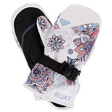 Варежки сноубордические детские Roxy Rx Jett Gir Mit Bright White_snowfla