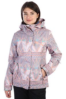 Куртка утепленная женская Roxy Jetty Minimal Grey_mosaic