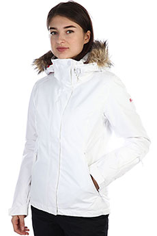 Куртка утепленная женская Roxy Jet Ski Solid Bright White_kerala