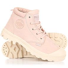 Ботинки высокие женские Palladium Low Cuf Lea W Rose Dust