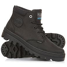 Ботинки высокие женские Palladium Plboss Lo Cuf W Black