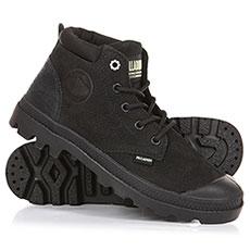 Ботинки высокие женские Palladium Low Cuf Lea W Black