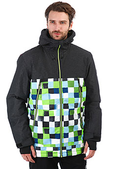Куртка утепленная QUIKSILVER Sierra Lime Green_check Ato