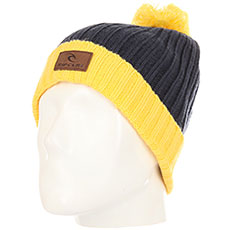 Шапка Rip Curl Pompom Beanie Spicy Mustard
