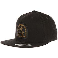 Бейсболка с прямым козырьком Rip Curl Dingrepair Cap Black