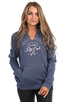 Толстовка кенгуру женская Rip Curl Nature Hooded Fleece Blue Indigo