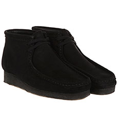 Ботинки Clarks Wallabee Boot Черные