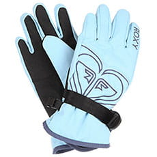 Перчатки сноубордические женские Roxy Poppy Girl Glov Powder Blue