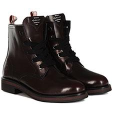 Высокие ботинки женские Gant Malin Бордовые