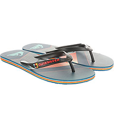 Вьетнамки QUIKSILVER Molokaislashfad Black/Orange/Blue