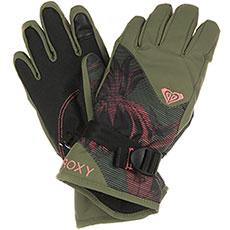 Перчатки сноубордические женские Roxy Rx Jett Gir Glo True Black swell Flo