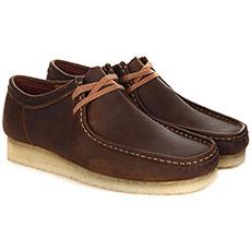Полуботинки мужские Clarks Wallabee коричневые