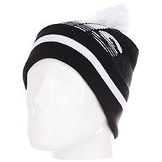 Шапка Skills Stripedhead Pom Black/White