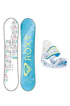 Сноуборд женский Roxy и крепление Poppy Package Snow Blue