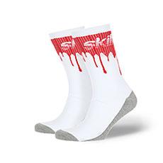 Носки Skills Кровь Iv Бело-бордовый