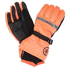 Перчатки сноубордические SuperDry Sport Ultimate Snow Rescue Glove Hyper Orange/Black