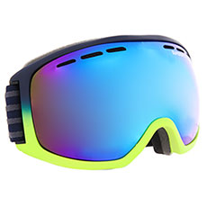 Маска для сноуборда SuperDry Sport Pinnicle Snow Goggles Matte Rescue Yellow/Navy Fade
