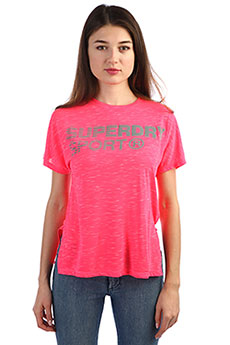 Футболка женская SuperDry Sport Core Loose Fusion pink