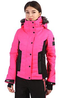 Куртка женская SuperDry Sport Luxe Show Puffer Acid Pink