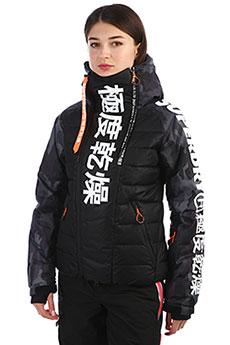 Куртка женская SuperDry Sport Japan Edition Snow DoWn Black/Camo