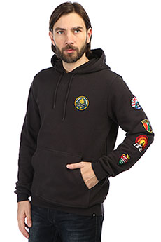 Толстовка кенгуру Element Ea Patched Fleece Off Black