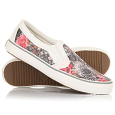 Слипоны женские British Knights Jam Dk Grey/Red Flower