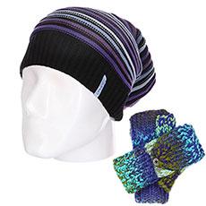 Комплект Dakine: шапка женская Roxy Blizzard Beanie Coral Cloud + перчатки женские Roxy Let It Snow Glo Withered Rose