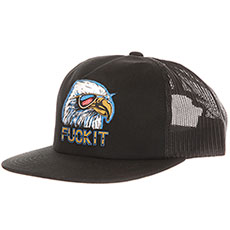 Бейсболка с сеткой Huf Hufxjuly 4th Eagle Trucker Black