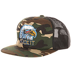 Бейсболка с сеткой Huf Hufxjuly 4th Eagle Trucker Camo