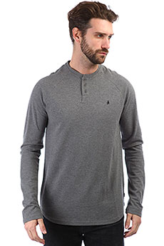 Лонгслив Altamont Portman Henley Grey/Heather