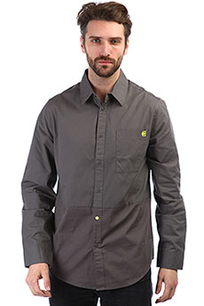 Рубашка Etnies Grenn Ls Woven Charcoal Grey