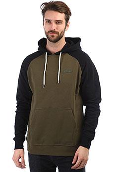 Толстовка кенгуру Etnies Corp Box Pullover Black/Olive